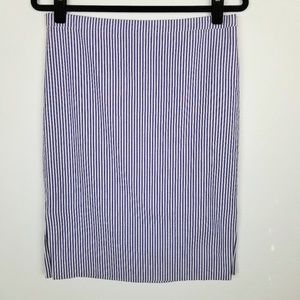 J. Crew Striped Seersucker Pencil Skirt